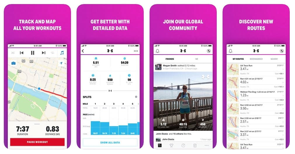 map my walk app by under armour