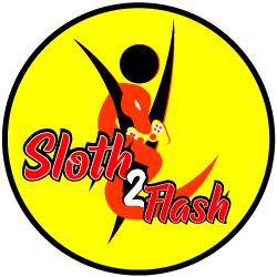 sloth to flash logo