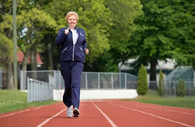 walking on track to lose weight