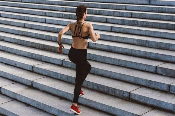 stairs running to burn fat
