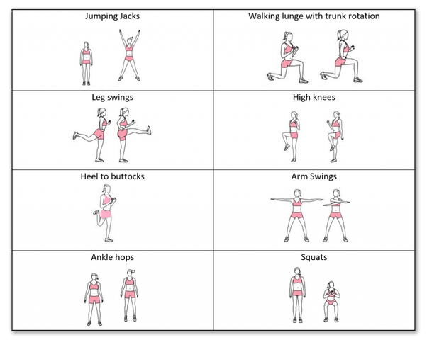 general warm up for runners