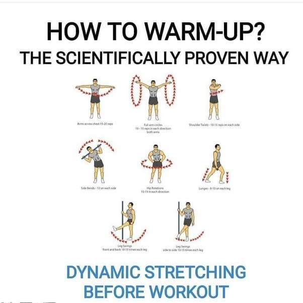 dynamic stretching before running