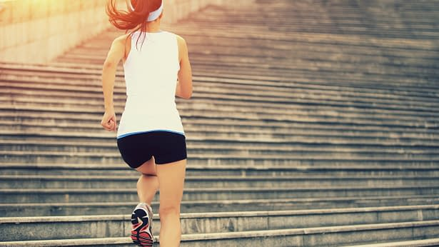 stairs running to lose weight