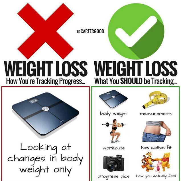 weight loss tracking progress
