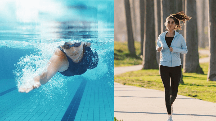 running vs swimming